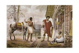 Guaicuruan Chief Going to Trade with Europeans Giclee Print by Jean Baptiste Debret