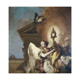 Angel Bearer of the Eucharist Print by Giovanni Battista Tiepolo