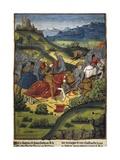 Lancelot in a Battle Kunstdrucke von Antoine Verard