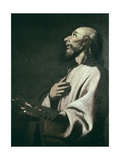 St. Luke as a Painter Before Christ on the Cross Poster by Francisco de Zurbaran