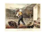 Landlord Punishing a Black Slave Giclee Print by Jean Baptiste Debret