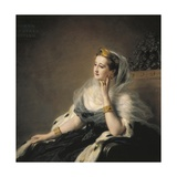 Eugenia, Empress of France, Wife of Napoleon III Giclee Print by Franz Xavier Winterhalter