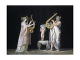 Erato and Pindar Prints by Antonio Canova