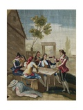 The Card Players Print by Ramon Bayeu y Subias
