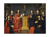 Merchants and the Aldermen of the City of Paris Poster by Philippe De Champaigne