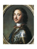 Peter I the Great, Tsar of Russia Premium Giclee Print by Pierre Gobert
