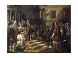 Oath in the Cortes of Cadiz of 1810 Posters by Jose Casado Del Alisal