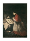 Saint Charles Borromeo before Dead Christ Prints by Giovanni Battista Crespi