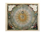 Universe on the Model of Copernicus with Sun in Center Giclee Print by Andreas Cellarius