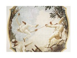 The Swing of Pulchinella Art by Giovanni Battista Tiepolo