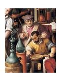Alchemy Laboratory Art by Giovanni Stradano