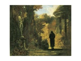 The Philosopher in the Park Posters av Carl Spitzweg