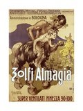 Art Nouveau Advertising Poster for 'Zolfi Almaglia' Art by Adolfo Hohenstein