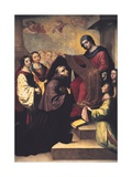 St. Ildephonsus Kissing his Chasuble Before the Conferral Prints by Francisco de Zurbaran