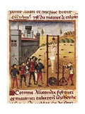Death and Torture of Calixten Cephobe Poster by Rufus Quintus Curtius