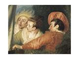 Pierrot (Gilles) Detail Plakater af Jean-Antoine Watteau
