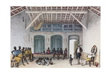 Slaves Working in a Sugar Mill Giclee Print by Jean Baptiste Debret
