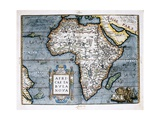 Map of Africa Art by Abraham Ortelius