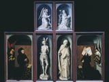 Outside of the Polyptich, Donors and Virgin, Angel and Saints Posters by Rogier van der Weyden