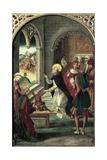 Saint Dominic Resurrects a Young Boy Giclee Print by Pedro Berruguete