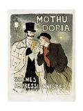 Theatrical Poster for 'Mothu and Doria' in Impressionist Scenes' Prints by Théophile Alexandre Steinlen