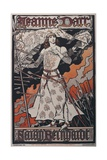 Sarah Bernhardt as Joan of Arc Print by Eugene Grasset