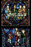 Stained Glass Windows of Chartres Cathedral Poster