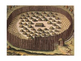 Fortified Indian Settlement in Florida Pósters por Theodor de Bry