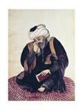 Hafiz-E Shirazi, Khwajeh Shams Al-Din Muhammad (1325-1389) Poster