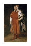Portrait of the Buffoon 'Redbeard', Cristobal De Castaneda Poster by Diego Rodriguez de Silva Velazquez