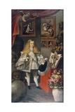 King Charles II of Spain as a Child and His Ancestors Print by Sebastian de Herrera Barnuevo