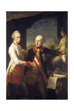 Kaiser Joseph II and Grand Duke Leopold of Tuscany Plakater af Pompeo Batoni