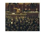 Jean Jaures Speaking in the Chamber of Deputies Giclée-Premiumdruck von Jean Veber