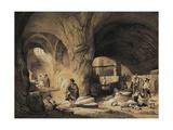 Arab Mills Called 'Molinos De La Mina' in Andalusia Art by Jenaro Perez Villaamil