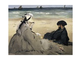 On the Beach Posters by Édouard Manet