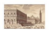 Trading Building and Seville's Cathedral Poster