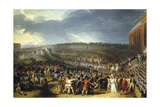 Fete De La Federation, Champs De Mars, Paris, July 14, 1790 Giclee Print by Charles Thevenin