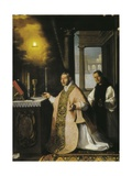 The Mass of Fray Pedro De Cabanuelas Prints by Francisco de Zurbaran
