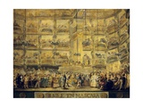 Dance in Mask in the Teatro Del Principe, Madrid Giclee Print by Luis Paret y Alcazar