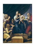 Madonna with St Print by  Raphael