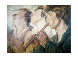 Three Street Musicians Giclee Print by Jacob Jordaens