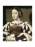 Queen Eleanor of France Poster von Joos Van Cleve