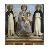 Virgin and Child with Sts. Dominic and Thomas Aquinas Kunst af  Fra Angelico