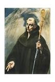 Saint Benedict Giclee Print by  El Greco