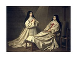 Mother Catherine-Agnes Arnauld and Sister Catherine of St. Suzanne Print by Philippe De Champaigne