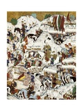 Suleyman the Magnificent at the Battle of Mohacs, of August 29, 1526 Art