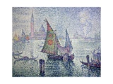 The Green Sail, Venice Posters por Paul Signac