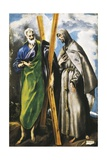 Saint Andrew and Saint Francis Art by  El Greco