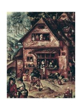 Village Scene Prints by Hans Bol