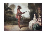 The Charming Musician Plakater af Jean-Antoine Watteau
